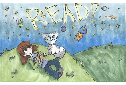 Tarjeta de la biblioteca Reading Under the Stars