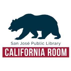 California Room logo: silueta del animal del estado, un oso pardo