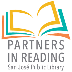 Partners in Reading logo - icon of open book