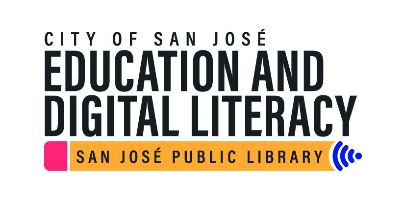Ciudad de San José Educación y alfabetización digital - San José Public Library (logo)