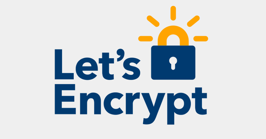 Padlock with sun rising out of it. Text: Let's Encrypt.