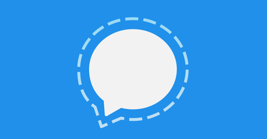 Signal's talking bubble icon.