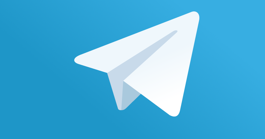 Telegram's Icon: Paper airplane flying into brighter blue skies.
