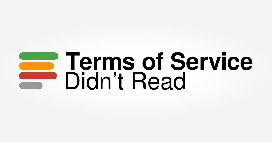 Text Icon. Text: Terms of Service, didn't read.