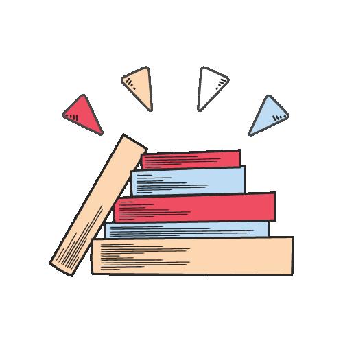 biểu tượng của chồng sách