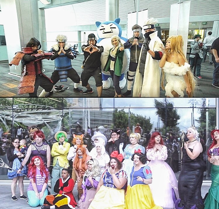 Cosplayers at Fanime