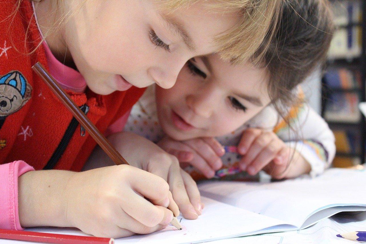 孩子們在家學習