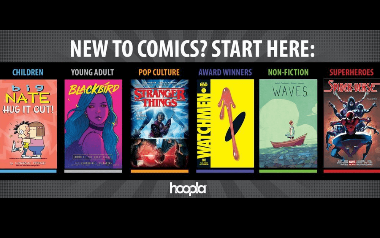 "Banner says ""new to comics, start here"