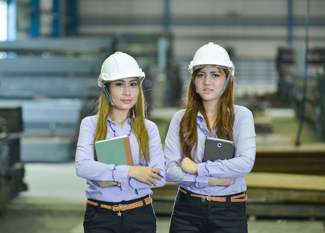 Two female engineers