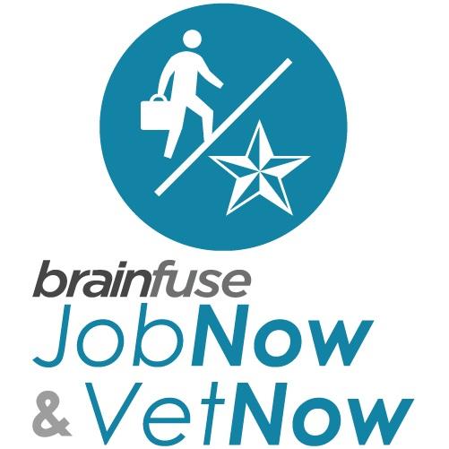 Logotipo de Brainfuse JobNow y VetNow