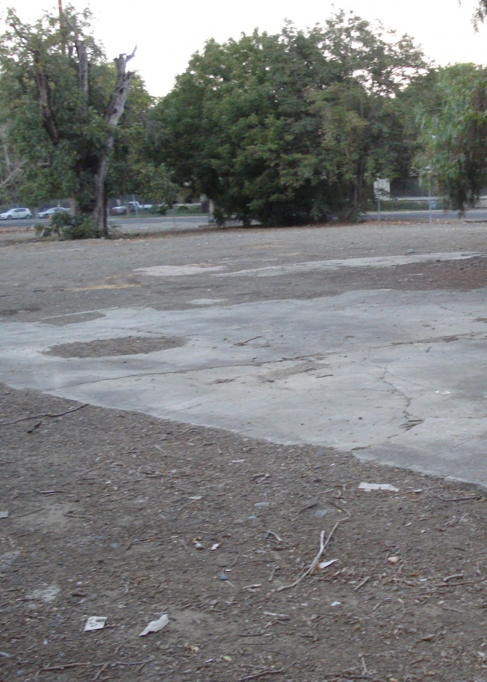 Photograph of concrete remains of the Club Lanai.