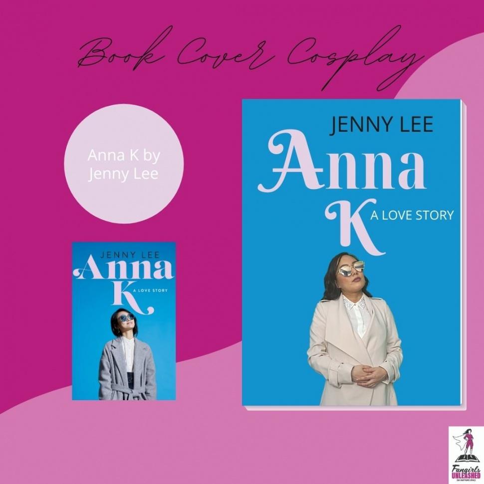 Cosplay de la portada del libro de Anna K
