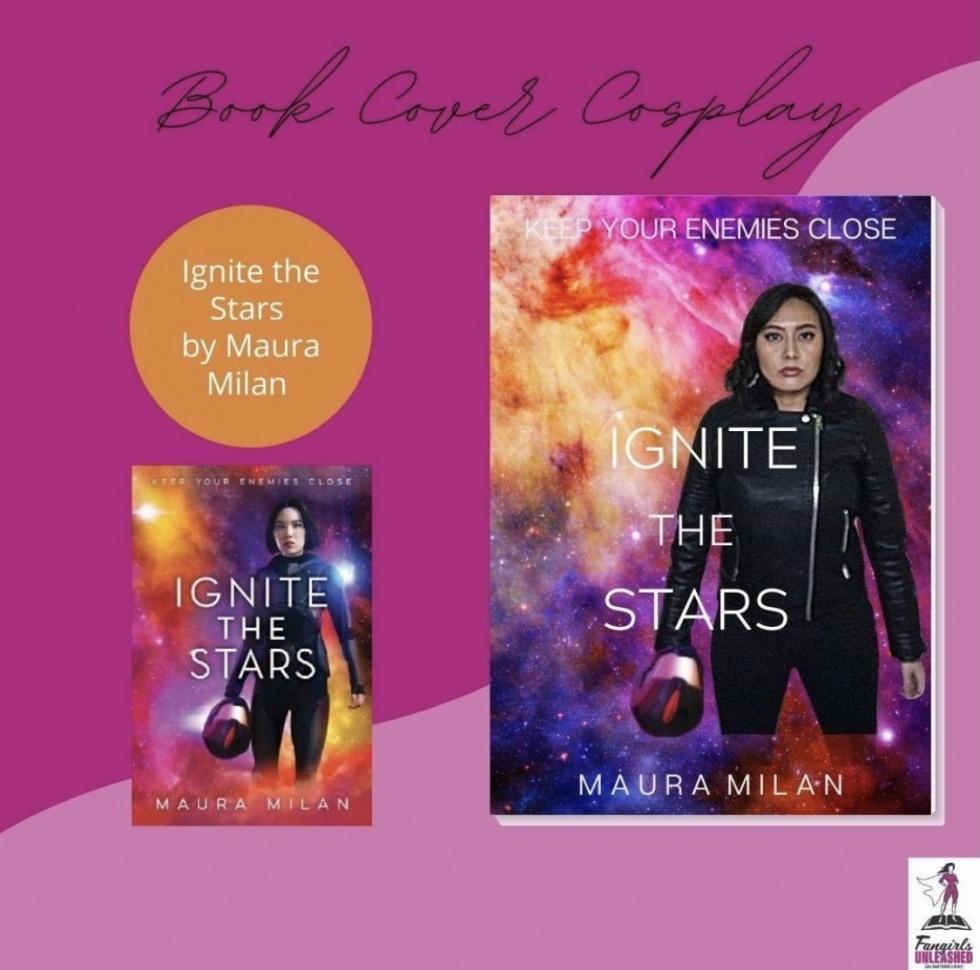 Cosplay de portada de libro Ignite the Stars
