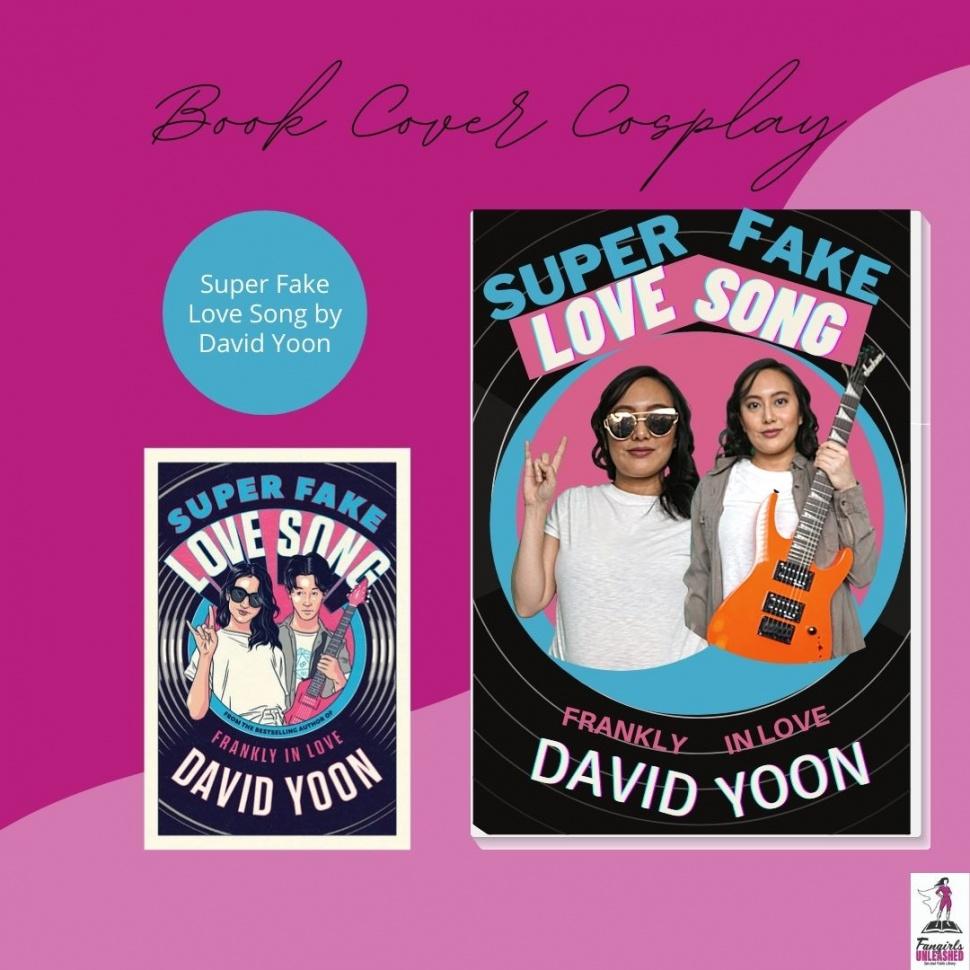 Cosplay de la cubierta del libro de canciones de amor súper falso