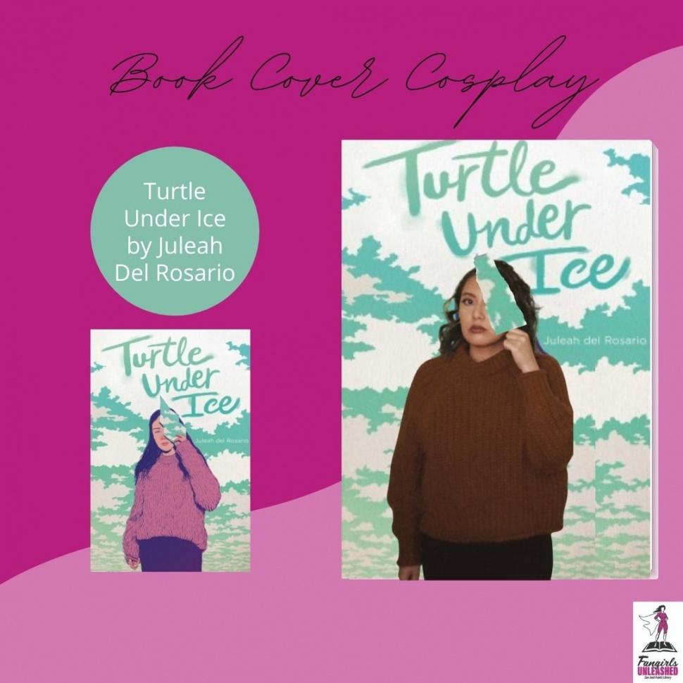 Cosplay de la portada del libro Turtle Under Ice