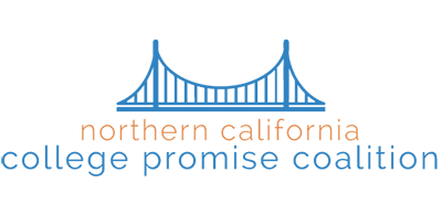 Icon: bridge. Text: Northern California College Promise Coalition, logo
