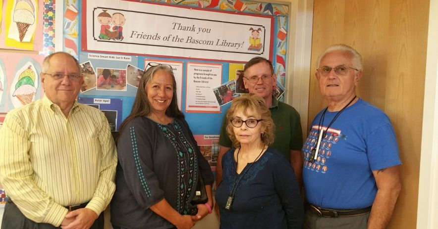 five members of the Friends of the Bascom Library