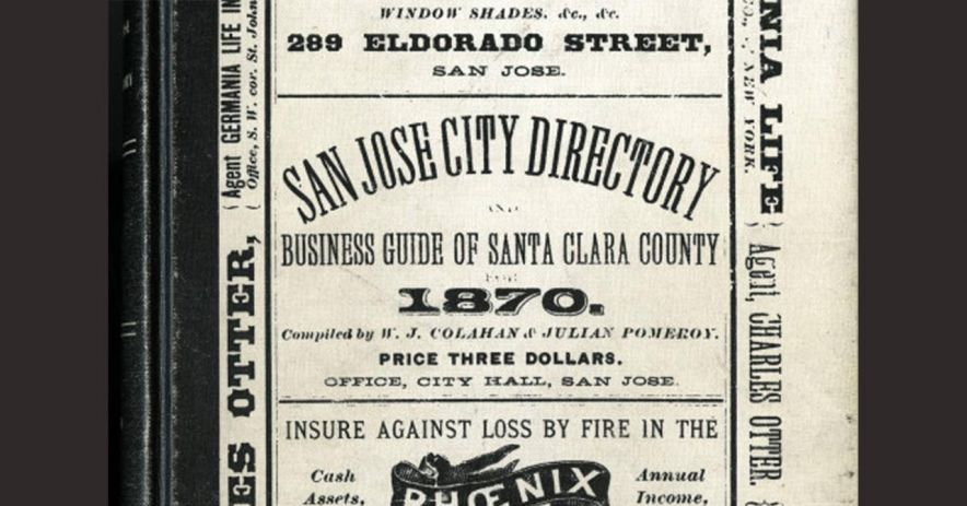 Directories, City of San Jose and Vicinity