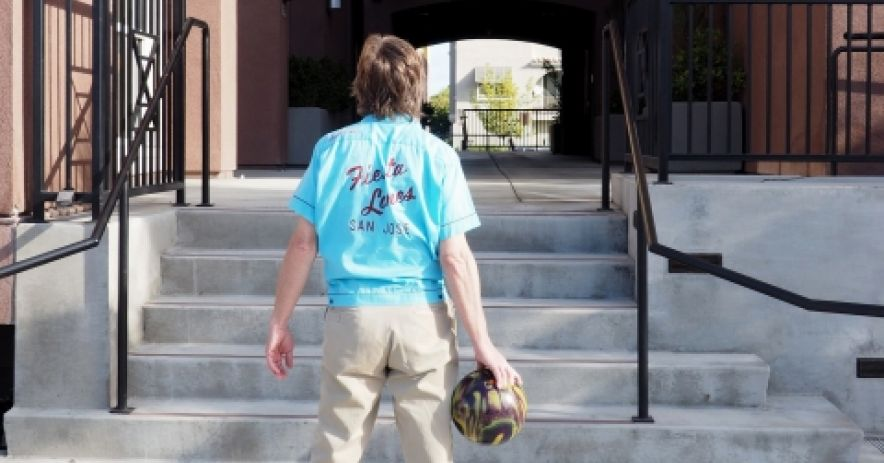 The author of this blog stands ready to roll at the former location of Fiesta Lanes bowling alley. Located on the corner of San Carlos Street and Willard Avenue, Fiesta Lanes closed in 2002 and is now the site of an apartment complex. A new street on the site was named Fiesta Lane in memory of the bowling alley. Photo by Gabriel Ibarra.