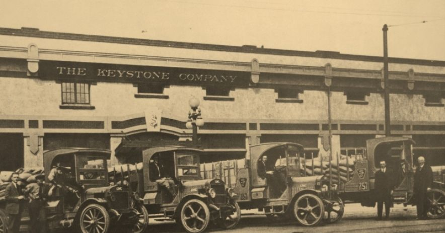 The Keystone Company about 1921. The company's original 40 foot frontage expanded to 177 feet between 1910 and 1916, and was renumbered 257 N. Market Street. Courtesy of Keystone Restaurant Supply.