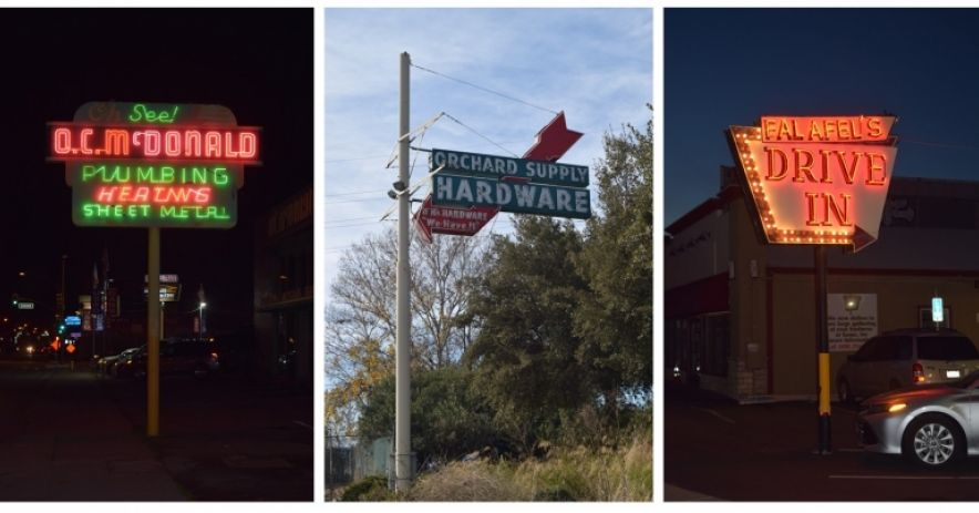 Signs along San Carlos Street, from Bird Avenue down past Bascom Avenue.   Photos ©Ralph M. Pearce.