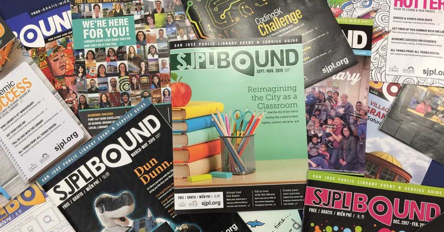 many different issues of SJPL Bound randomly arranged in a pile