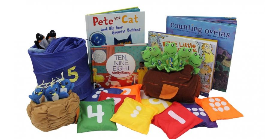 Wee Play & Learn Kit - Fun with Numbers - featuring storybooks, beanbags, and puppets