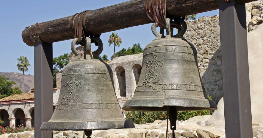 Bells at San Juan Capistrano Mission.