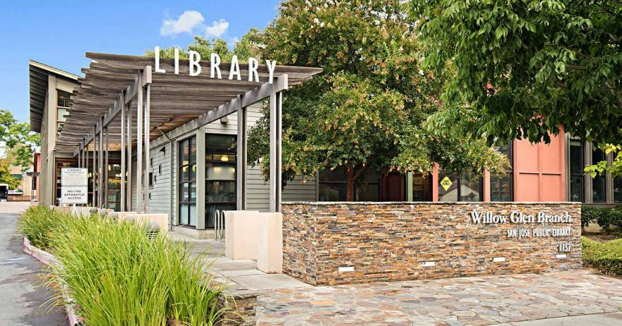 Exterior of Willow Glen Branch