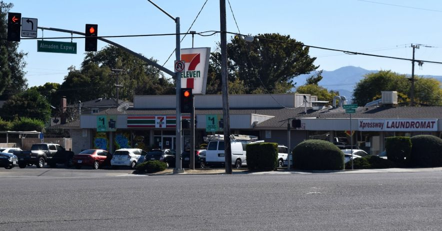 Image: A 7-Eleven convenience store located on Almaden Expressway and Ironwood Drive in San Jose, California. Photo by Ralph Pearce