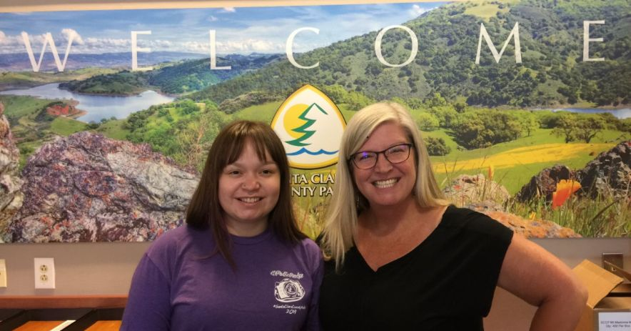 Librarian Brandy Maldonado with Carrie Grisenti, Outdoor Recreation Coordinator for the Santa Clara County Parks Department ©Carrie Grisenti