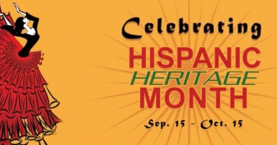 Hispanic Heritage month banner - September 15 to October 15