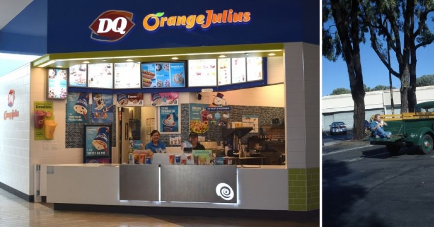A recent shot of the Dairy Queen / Orange Julius at Westfield Oakridge (formerly Oakridge) Shopping Mall.