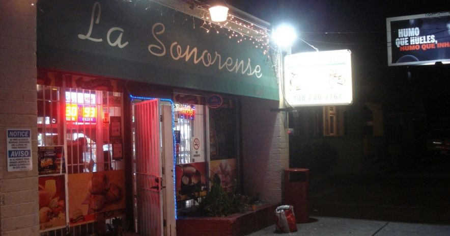 Entrance to La Sonorense Bakery on Willow Street. Photo ©Ralph M. Pearce