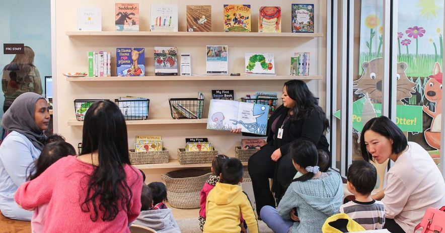 Storytime program at a Bridge library.