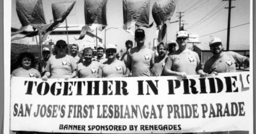 El primer desfile del orgullo gay y lésbico de San José en 1974