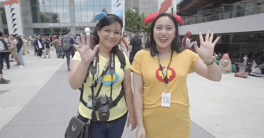 Addie and Alyssa at Fanime