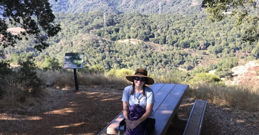 Hiking librarian at the 2018 #PixinParks Almaden park photo op