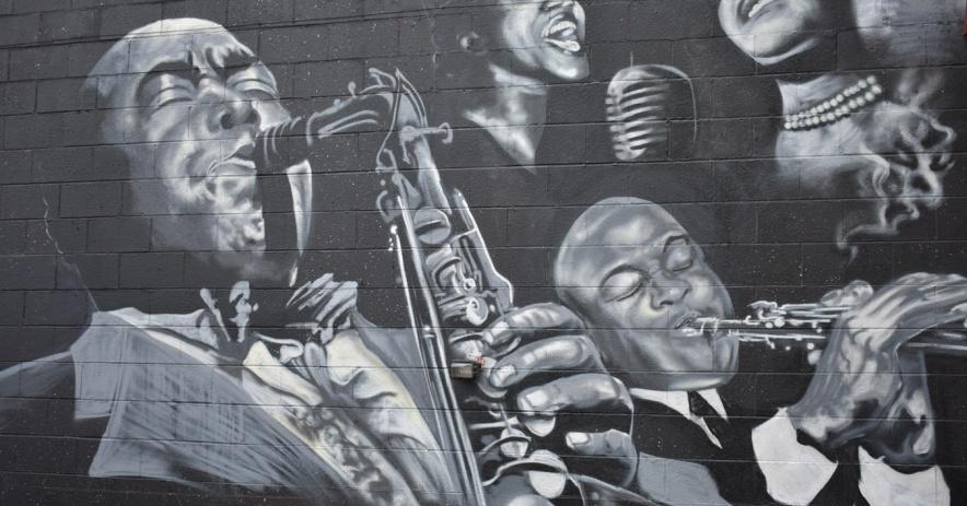 Mural de músicos afroamericanos