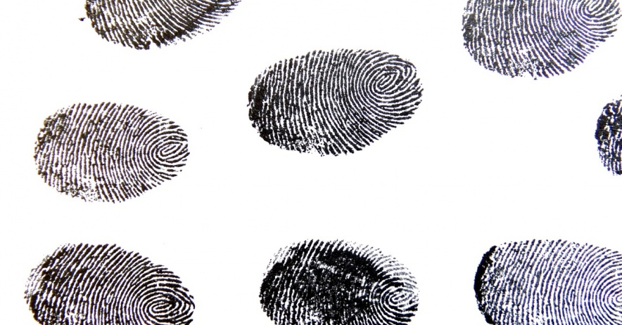 blank ink fingerprints in a repeating pattern