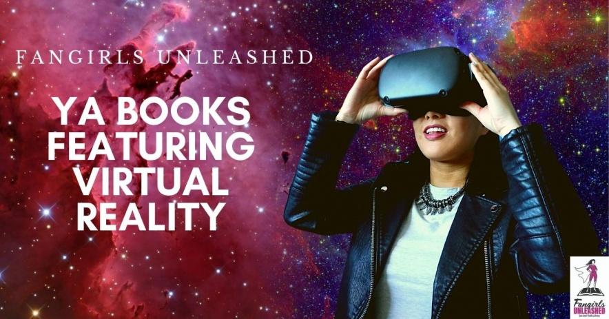 Alyssa con un casco de realidad virtual