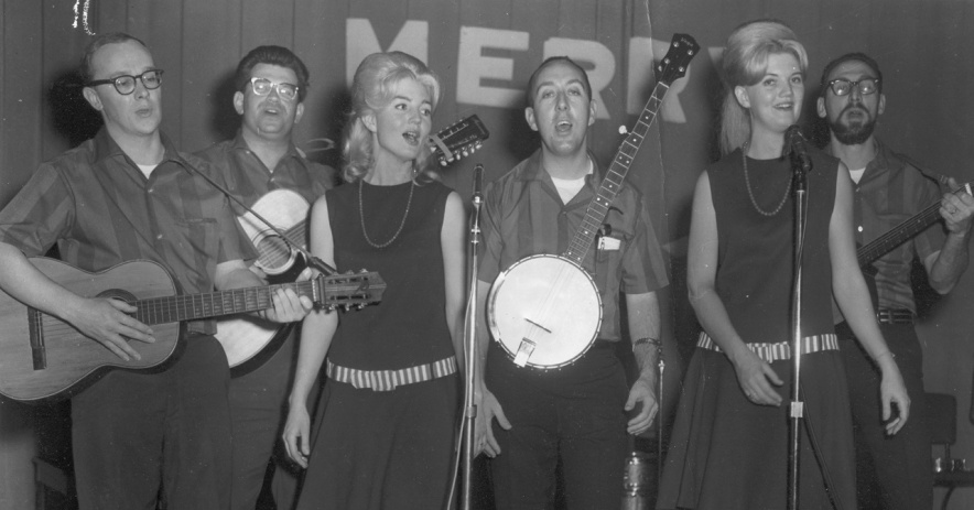Image: San Jose folk music group, The Group, performing onstage in the mid-1960s. Courtesy of Glenn Pearce.