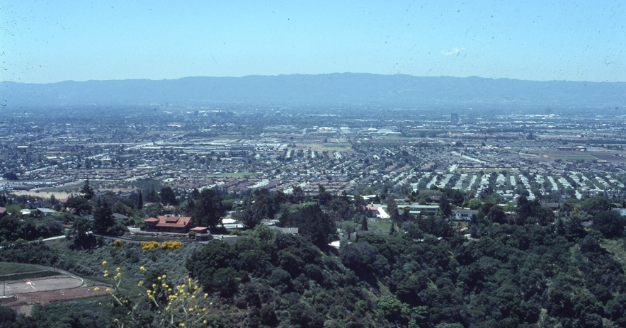 Image of east side of San Jose from Alum Rock park.
