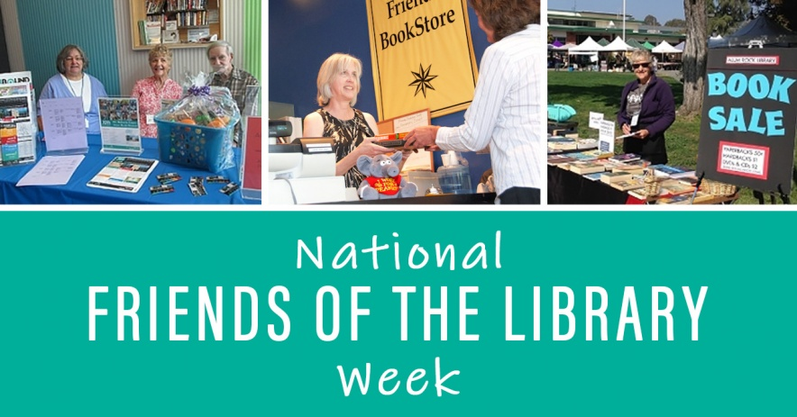 National Friends of the Library Week photo collage