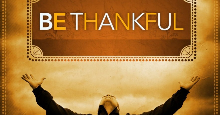 Man embraces being thankful