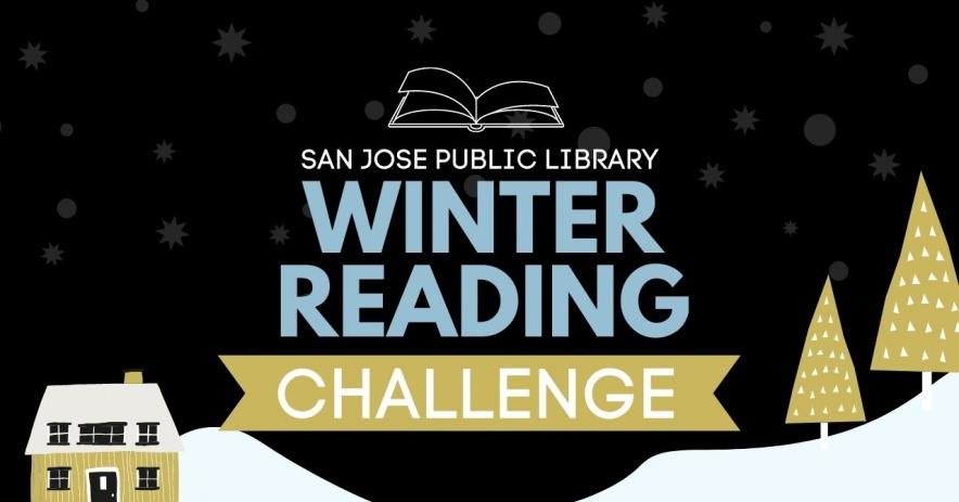 Desafío de lectura de invierno con paisaje nevado