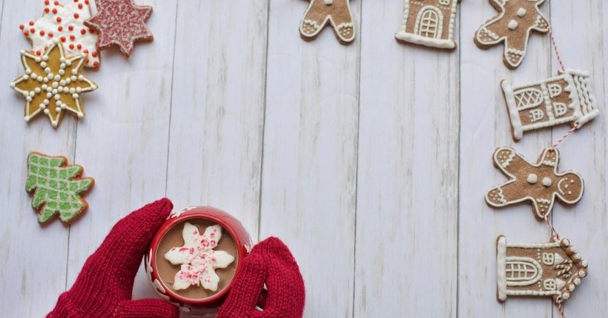 guantes, galletas, calor, invierno