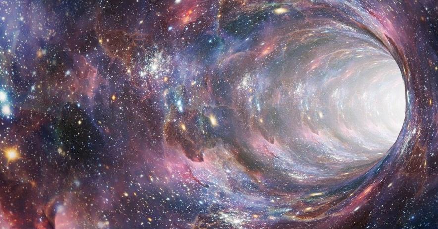 Imagen de agujero de gusano espacial