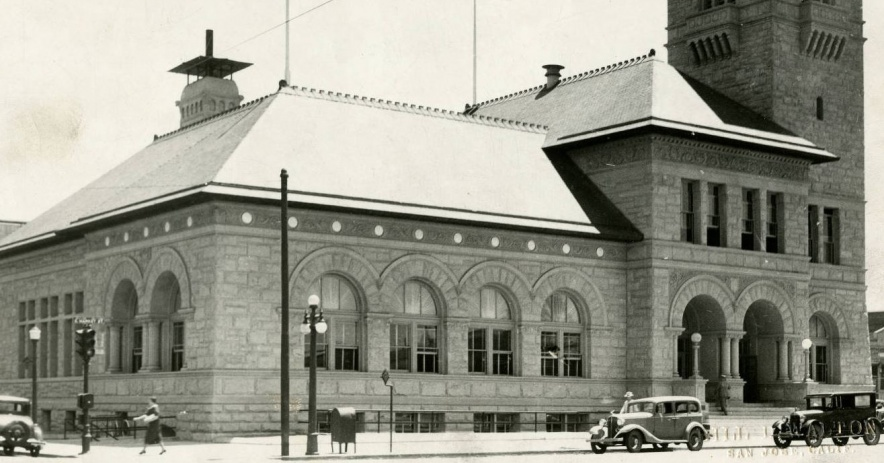 Foto: SJPL California Room Colección. Principal San Jose Public Library exterior, 1935.