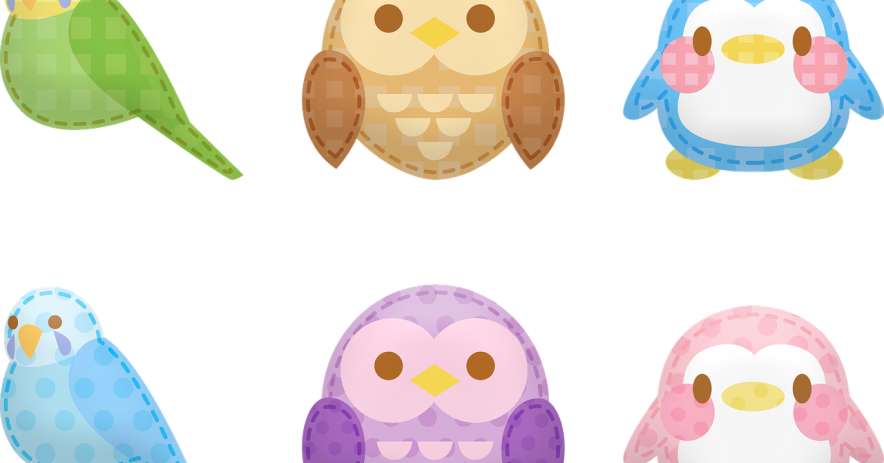 Parrot and owl stickers